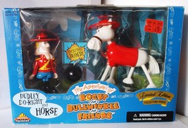 The Adventures Of Rocky & Bullwinkle: Dudley Do-Right & Horse Figures Limited Ed - $39.95