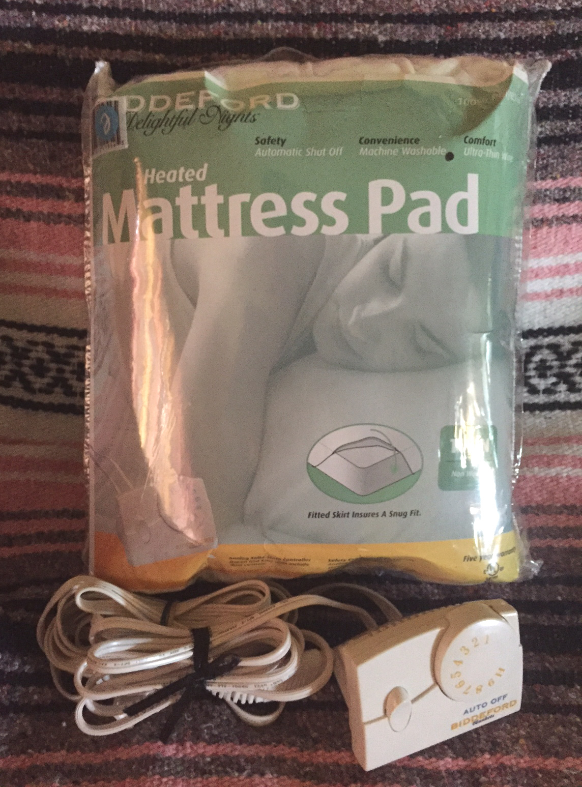 Electric heated mattress pad by Biddeford Delightful Nights twin size bed warmer
