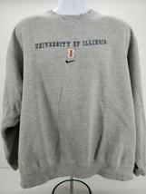 Nike Team University of Illinois Pullover Jacket XXL Gray - $28.01