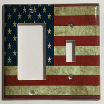 US USA United State Flag Light Switch Power Outlet Wall Cover Plate Home decor image 5
