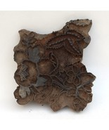 VINTAGE 1900s WOODEN HAND BLOCK PRINTING STAMP OLD COLLECTIBLE PIECE. - $61.62
