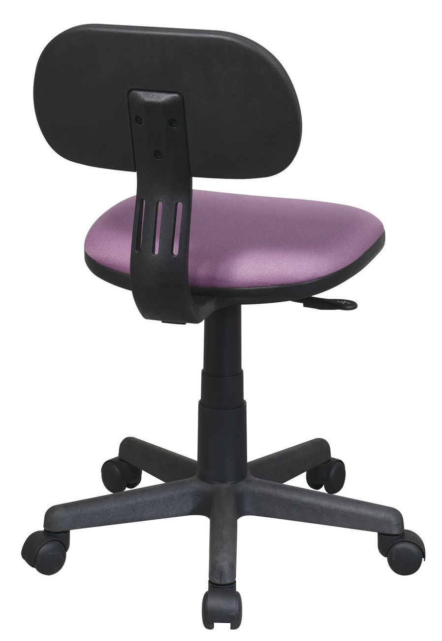 Purple Fabric Seat Back Child 39 S Teens Computer Desk Task