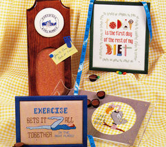 CROSS STITCH SHAPE UP! EXERCISE DIET WELCOME  - $4.50