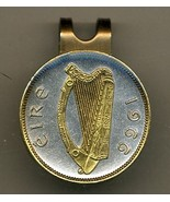 "Irish ½ penny ""Harp"" 2-Toned Gold on Silver Coin Golf Marker - $63.00"