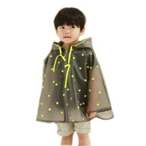 Toddler Rain Day Outerwear Baby Rain Jacket Infant Raincoat Cool Stars S