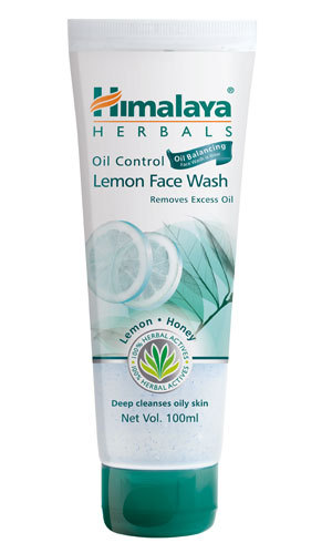 Himalaya Oil Control Lemon Face Wash 100ml cleanses your face and removes oil.