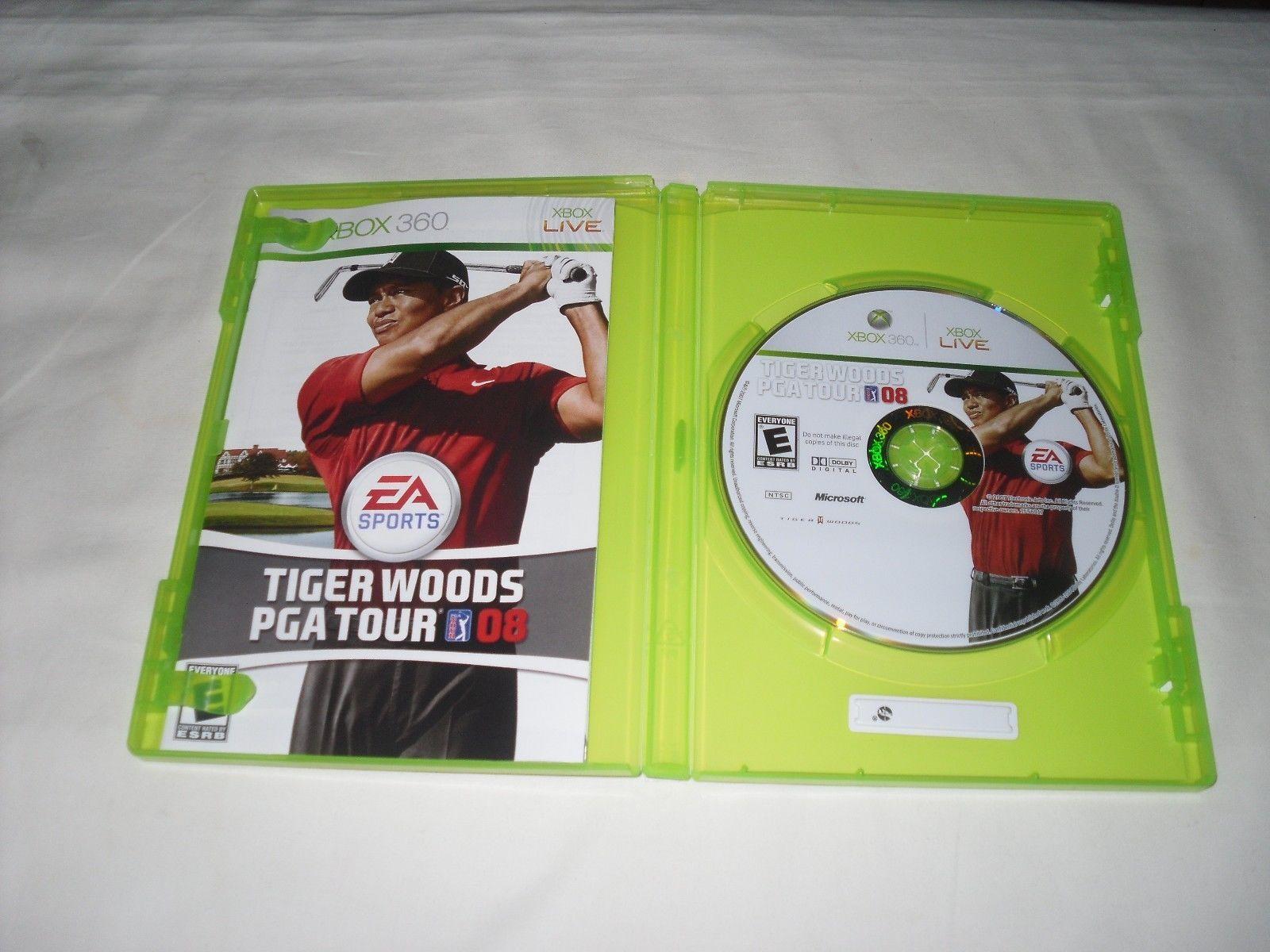 Tiger Woods PGA Tour 08 (Xbox 360, 2007) Complete Game