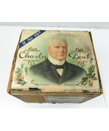 Antique wood advertising Cigar box drawer Charles Denby Americana deco - $59.00
