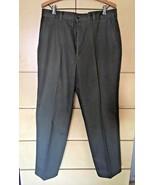 Oak Creek Olive 100% Cotton Flat Front Men's Pants 34 X 32 - $9.50