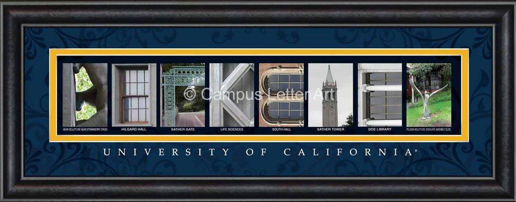 Berkeley- University of California Officially Licensed Framed Letter Art