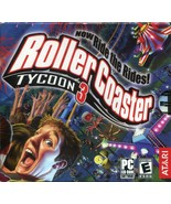 RollerCoaster Tycoon 3 (PC, 2004) - COMPLETE BOOKLET / DISC CASE / KEY CODE - $5.93