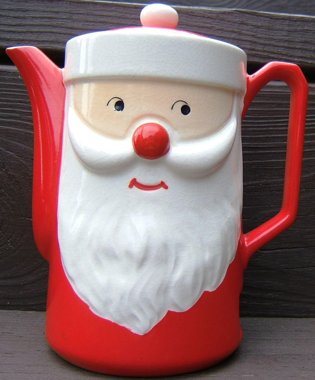 Vintage santa claus christmas ceramic electric hot water