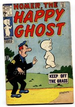 HOMER THE HAPPY GHOST #1 comic book 1969-KEY ISSUE-MARVEL DECARLO g- - $18.92