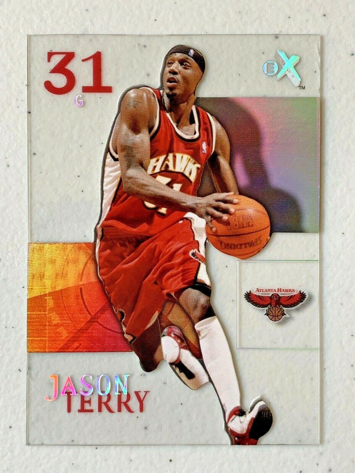 Jason Terry Now/66 #65 Atlanta Hawks Fleer Basketball Card with Hard Case 31G