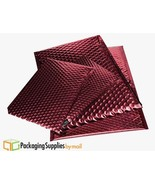 """200 Red Metallic Bubble Mailers 13.75"""" x 11"""" Envelopes Shipping Bags - $271.71"""