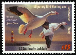 RW70 $15.00 Snow Geese Federal Duck Stamp Mint - NH Very Fine Stuart Katz - $20.00