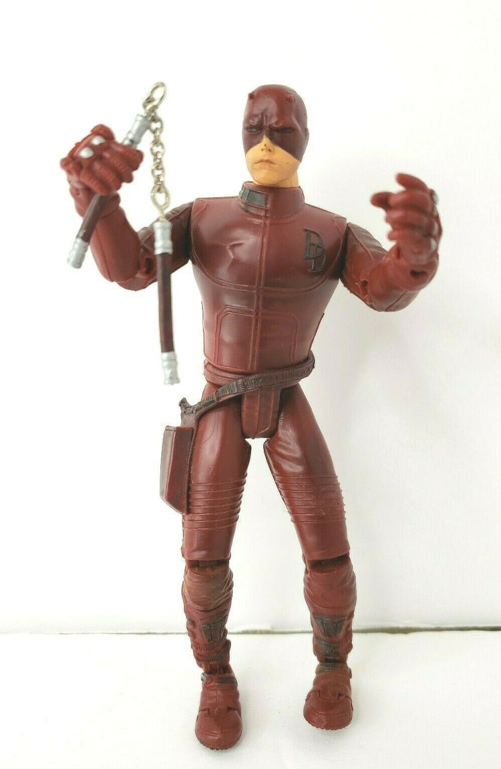 "Daredevil Movie Action Figure 2002 Marvel 6"" Affleck with Nunchucks"