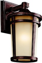 Kichler 49071BSTFL Atwood Outdoor Wall 1-Light Fluorescent, Brown Stone - $127.77