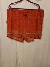Old Navy Orange Floral Shorts With Drawstring Women's Size XXL - $18.00