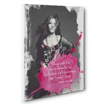 Janis Joplin Motivational Quote Canvas Wall Art - $34.65