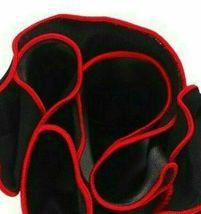 BLACK Silk RED border Trim Pocket square Round Handkerchief edge NEW $45 image 7
