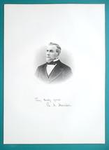 RICHARD A. HARRISON England Born Ohio Lawyer - 1883 Antique Portrait Print - $14.40
