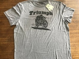 Triumph Rider Lucky Brand t-shirt Thin NWT $49.99 XL cafe racer new Discont - $26.59