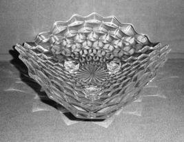 "Fostoria American Clear Glass Three Corner 11"" Spreading Centerpiece Bowl - $38.87"