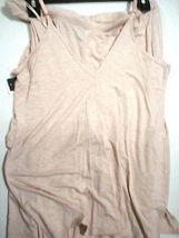 NWT New Designer Natori Pajamas Pink Tan Beige Womens PJ M Cami Pants Top Set image 5