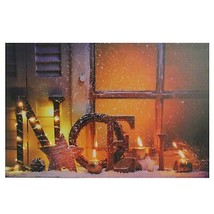 "Northlight LED Noel and Flickering Candles Christmas Canvas Art 23.5"" x ... - $18.50"