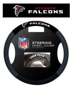 ATLANTA FALCONS MESH SUEDE CAR STEERING WHEEL COVER NFL FOOTBALL