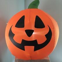 "Gemmy 3"" Halloween Inflatable Pumpkin Airblown Light Up Decor Tested Works - €28,21 EUR"