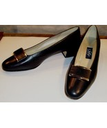 EUC - SELBY COMFORT FLEX *PETTRA* NAVY BLUE LEATHER SHOES - SIZE 9 1/2 2A - $19.79