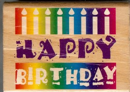 Stampcraft Rubber Stamp 440H33,  Saying Happy Birthday B2 - $5.94
