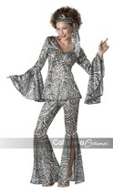 California Costumes Foxy Lady Disco 60s 70s Adult Womens Halloween Costu... - $54.47