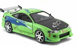 Fast & Furious 1:24 Brian's Mitsubishi Eclipse Die-cast Car, Toys for Ki... - $37.15