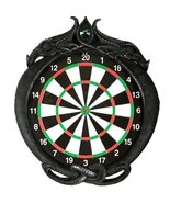 Double Dragons Wall Mount Dart Board Game with Darts Wall Sculpture Deco... - $89.09