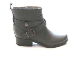 NEW Lucky Brand Jeans Rain Boots in Green - Moto Riding Engineer Buckle ... - $41.58