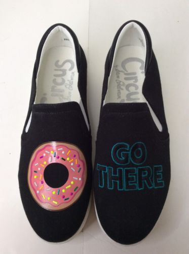 e1de2c2e8a9bd Sam Edelman Circus Black Charlie Donut Go There Flats Slip On Sneakers  Shoes SZ6