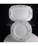 "Villeroy & Boch Nanking Dinner Plate 10 3/8"" and Platter 12.75"" Pair - $130.86"