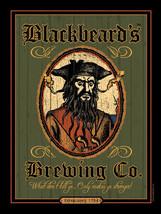Blackbeard's Brewing Co. Pirate Ocean Beach Metal Sign - $19.95