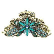 Stylish Hair Accessory Hair Clips Crystal Retro Updo Hairpin Durable Hair Grip Q - $11.91