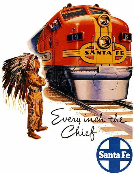 Primary image for 1948 Santa Fe Chief Railroad - Travel Poster