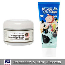 [ ELIZAVECCA ] Carbonated Bubble Clay + Hell-Pore Clean Up Mask ++ Free ... - $20.77