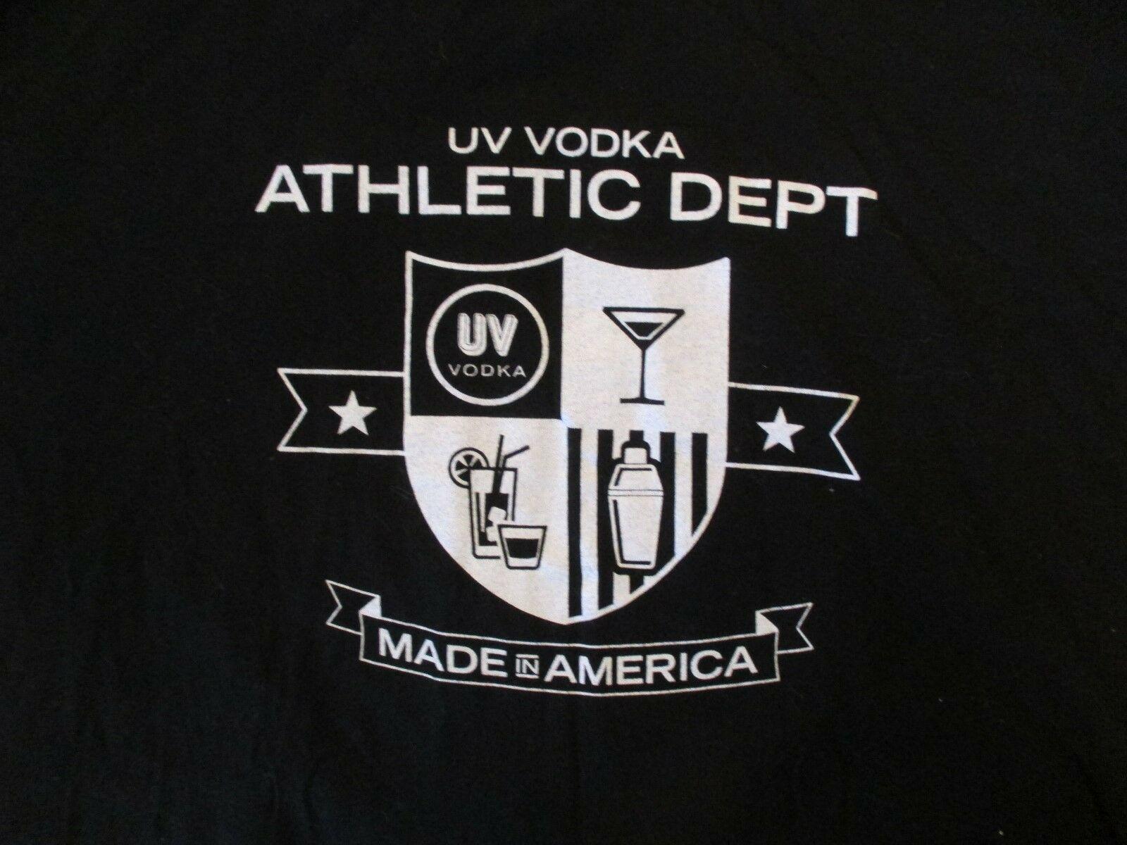 UV Vodka Athletic Dept  T Shirt Size XL ?