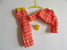 5S/VTG BARBIE CHECK THE SUIT/1794/PINK/YELLOW PANTS/JACKET/SHOES/HOUNDST... - $39.55