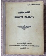 AIRPLANE POWER PLANTS 195? US NAVY BOOK Over-Size NAVAER 00-80T-42 - $43.06