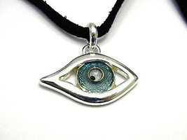 Vintage Fun Aqua Blue Evil Eye Pendant Necklace - $17.09