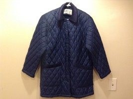 Haband For Her Blue Quilted Lightly Insulated Jacket Sz S - $34.65