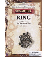 SteamPunk Cosplay Victorian Silver Propeller Gears Large Finger Ring NEW... - $9.74